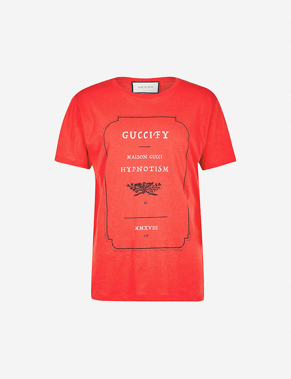 e54a7bbf186b GUCCI - Guccify-print cotton-jersey T-shirt | Selfridges.com
