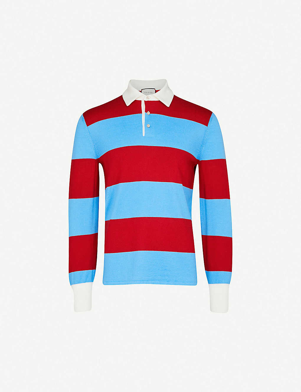 a16faa389e GUCCI - Thanatos wool-knitted polo shirt | Selfridges.com