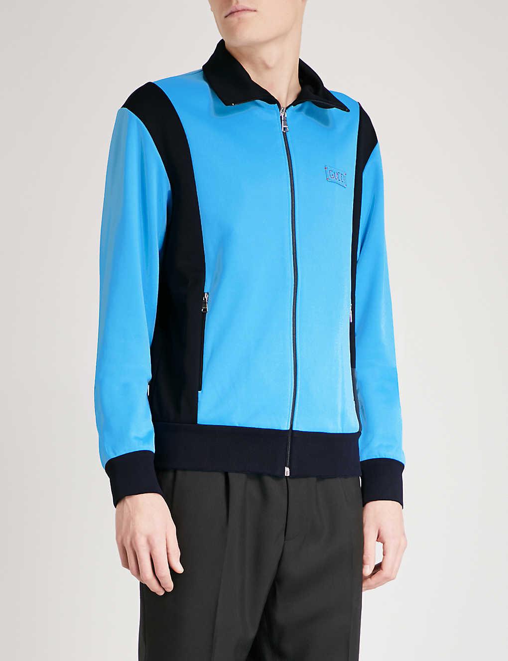 d96fe40e1 GUCCI - Tiger-embroidered jersey jacket | Selfridges.com