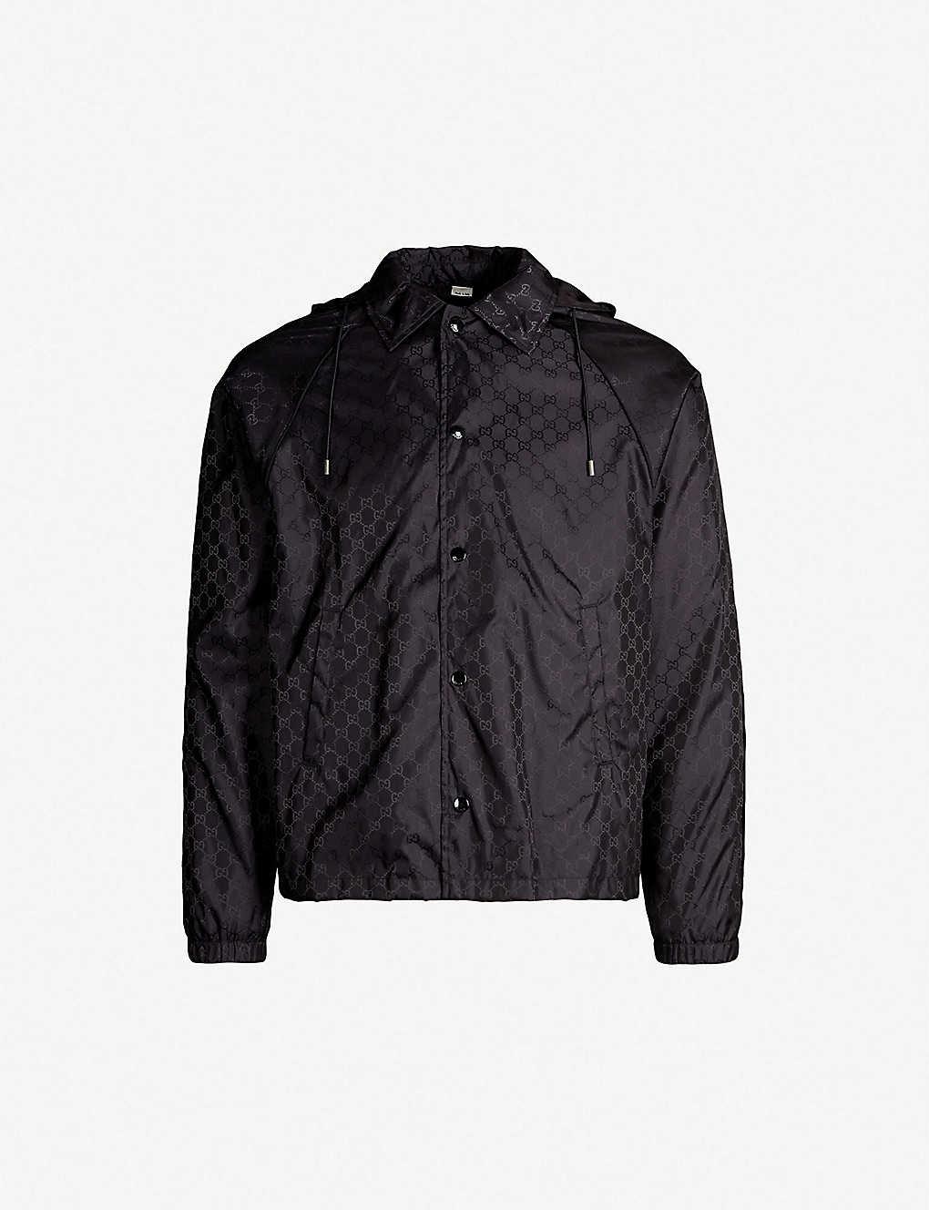 4c972d0e7 GUCCI - Monogram-print hooded shell jacket | Selfridges.com