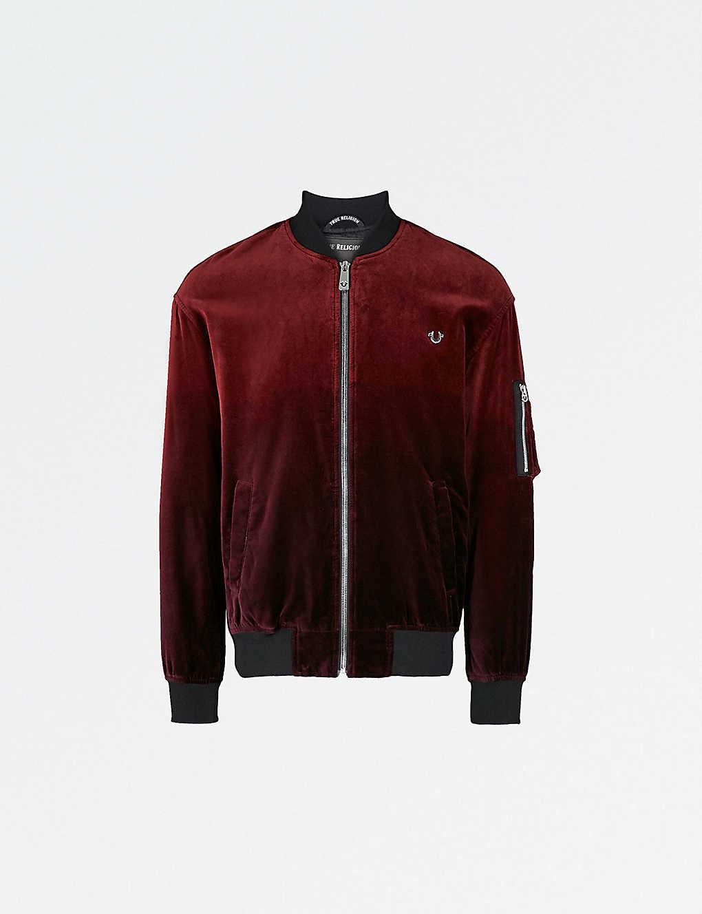 a5bfe6ff1 TRUE RELIGION - Ombre velvet bomber jacket | Selfridges.com