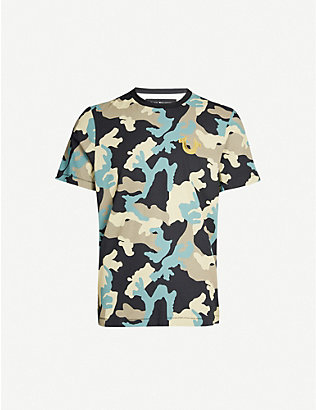 TRUE RELIGION: Camouflage graphic-print cotton-jersey T-shirt