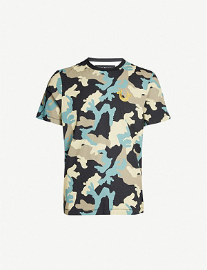 TRUE RELIGION Camouflage graphic-print cotton-jersey T-shirt