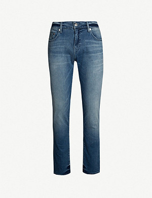 TRUE RELIGION Rocco relaxed-fit faded skinny jeans