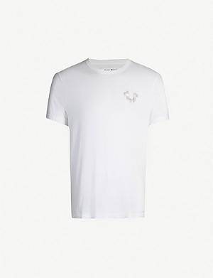 TRUE RELIGION Reflective logo cotton-jersey T-shirt