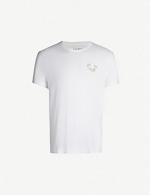 1ccfd529 TRUE RELIGION Reflective logo cotton-jersey T-shirt