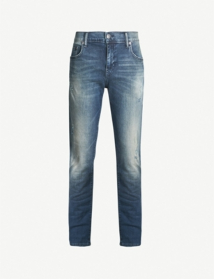 TRUE RELIGION Roccco faded skinny jeans