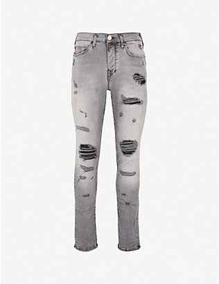 TRUE RELIGION: Rocco skinny-fit jeans