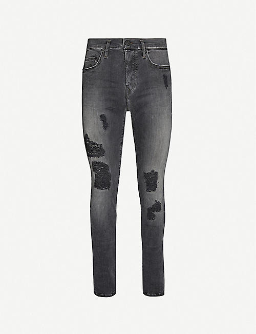 TRUE RELIGION Rocco distressed relaxed-fit skinny jeans