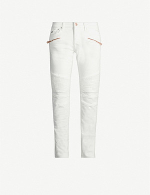 TRUE RELIGION Rocco motorcycle-detail skinny jeans