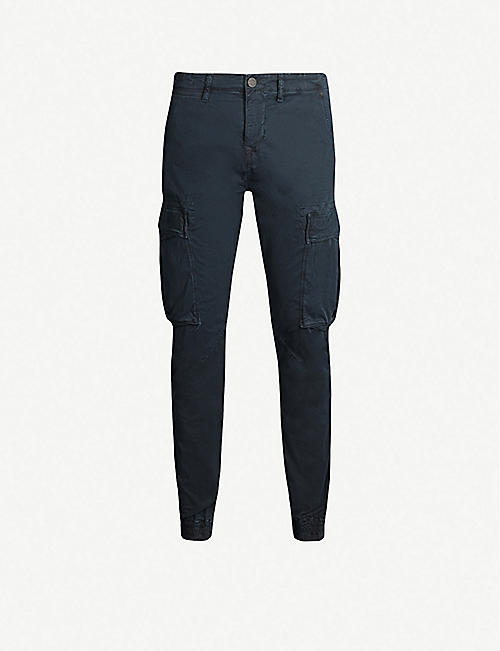 TRUE RELIGION Branded cropped straight cargo trousers