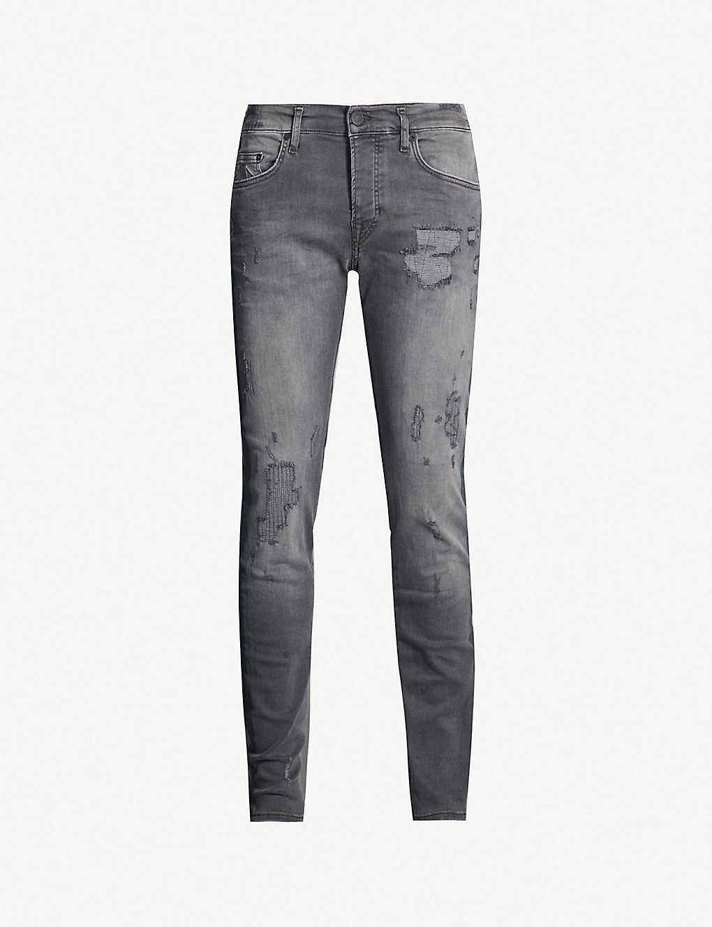 87fdfcc89 TRUE RELIGION - Rocco ripped slim-fit skinny jeans