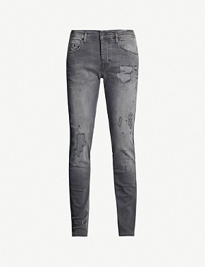 TRUE RELIGION Rocco ripped slim-fit skinny jeans