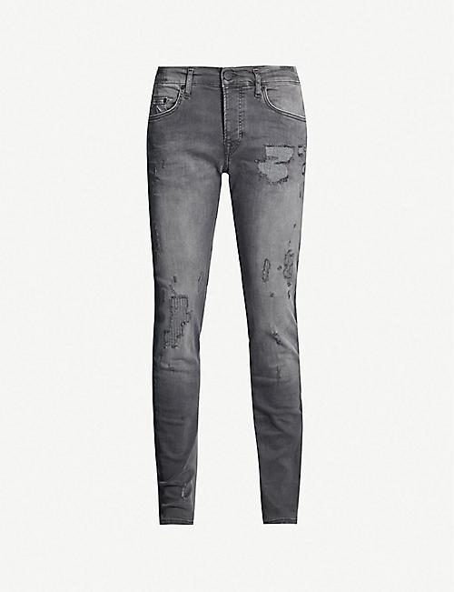 61e95e642af TRUE RELIGION Rocco ripped slim-fit skinny jeans
