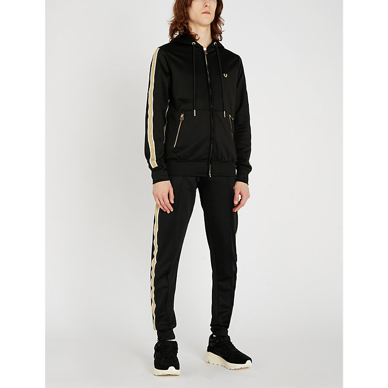 TRUE RELIGION   Stretch-Cotton Hooded Tracksuit Jacket   Goxip