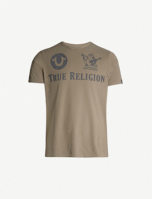 TRUE RELIGION Branded cotton-jersey T-shirt
