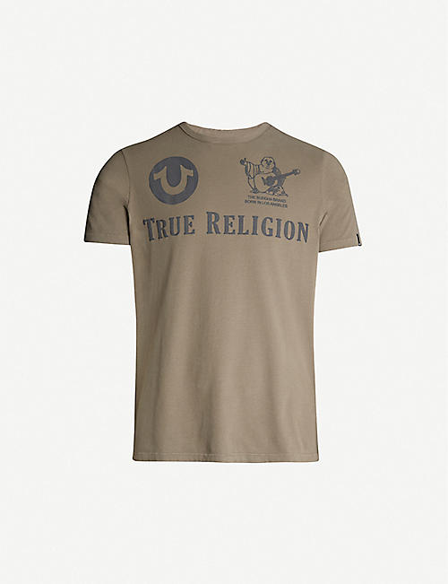 9f96b546a TRUE RELIGION Branded cotton-jersey T-shirt