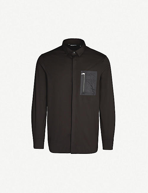 NEIL BARRETT Pocket-detail regular-fit cotton shirt
