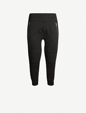 NEIL BARRETT Panel regular-fit tapered cotton-jersey jogging bottoms