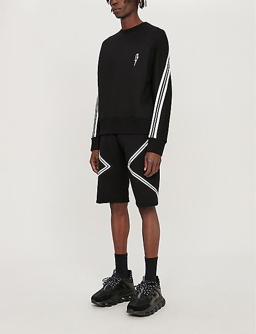 NEIL BARRETT Bonded side panel regular-fit neoprene shorts