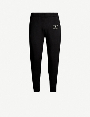 NEIL BARRETT Logo-embroidered stretch-jersey jogging bottoms