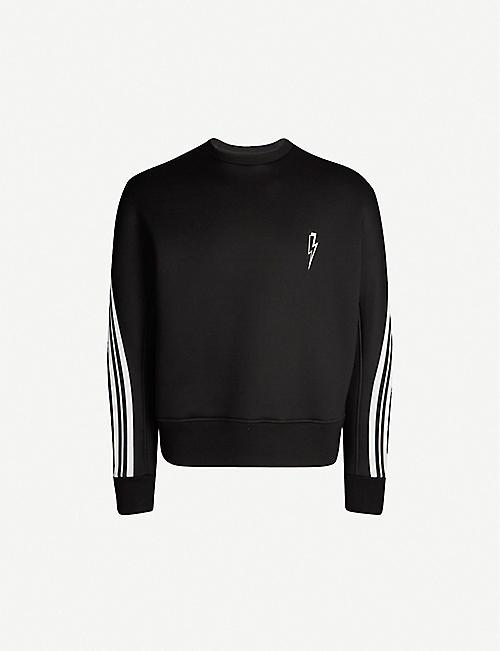 4715d9420 NEIL BARRETT Lightning bolt-print neoprene sweatshirt