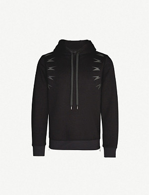 NEIL BARRETT Meteorites cotton-blend jersey hoody