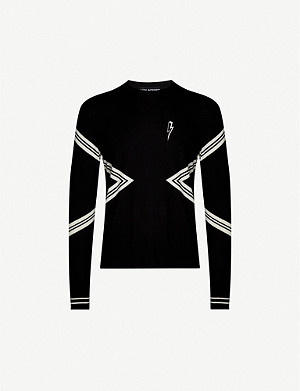 NEIL BARRETT Varsity stripe wool-knit jumper