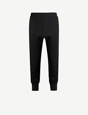 NEIL BARRETT Tuxedo-stripe wool-blend joggers