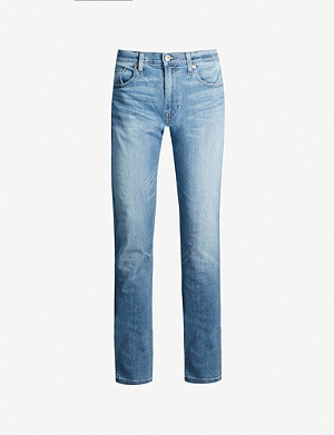 PAIGE Federal faded slim-fit jeans