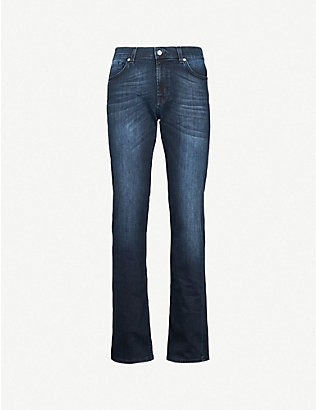 7 FOR ALL MANKIND: Standard Luxe Performance straight-leg jeans