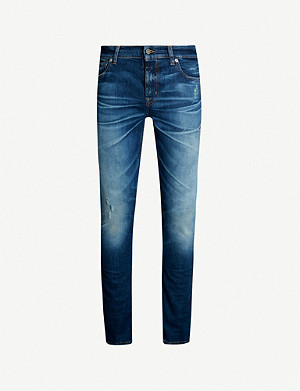 7 FOR ALL MANKIND Ronnie faded slim jeans