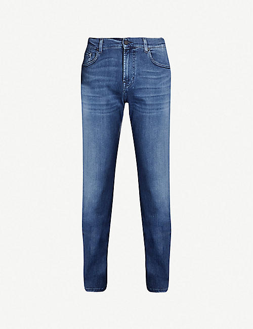 7 FOR ALL MANKIND: Standard Luxe Performance Plus regular-fit straight jeans