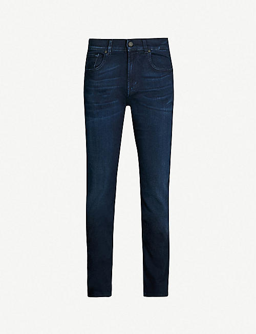 0dbd69831f 7 FOR ALL MANKIND Slimmy Luxe Performance slim-fit tapered jeans