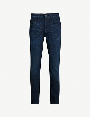 7 FOR ALL MANKIND Slimmy Luxe Performance slim-fit tapered jeans