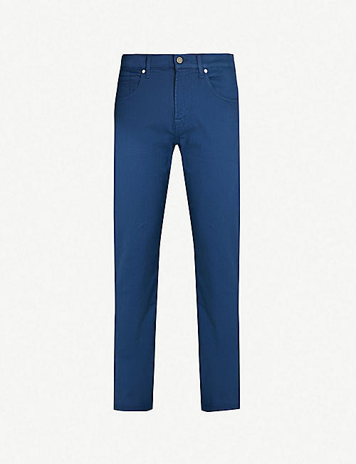 15e23cf92e 7 FOR ALL MANKIND Slimmy Luxe Performance slim-fit tapered jeans