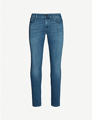 7 FOR ALL MANKIND: Ronnie Tapered Luxe Performance Plus skinny tapered jeans
