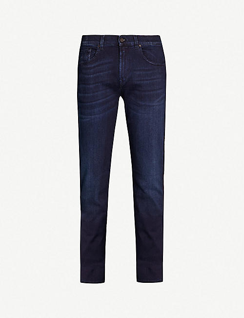 7 FOR ALL MANKIND:Slimmy Tapered Luxe Performance Plus 修身版型锥形窄脚牛仔裤