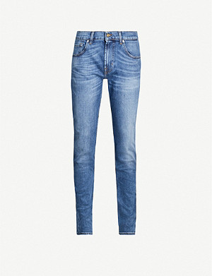 7 FOR ALL MANKIND Slimmy Hanwell tapered stretch-denim jeans