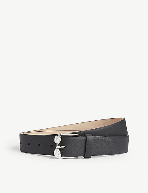 ALEXANDER MCQUEEN Twin Skull leather belt