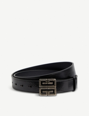 GIVENCHY 4G logo leather belt