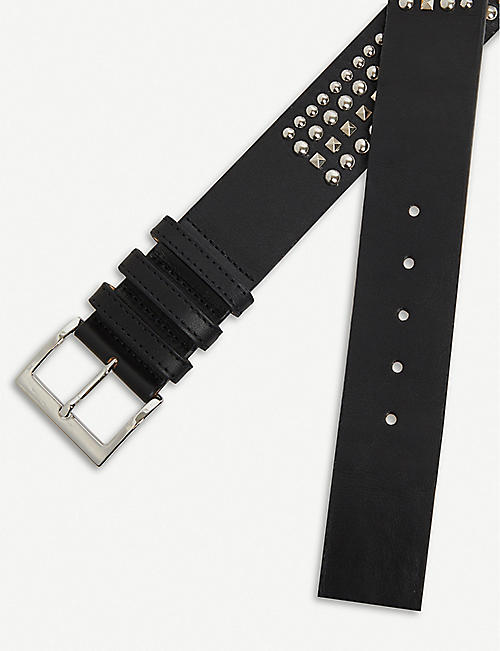 BALMAIN Studded leather belt