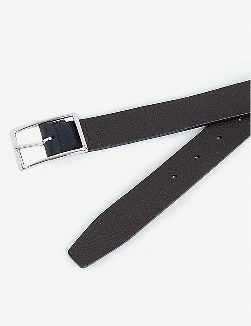 ANDERSONS Grained leather reversible belt
