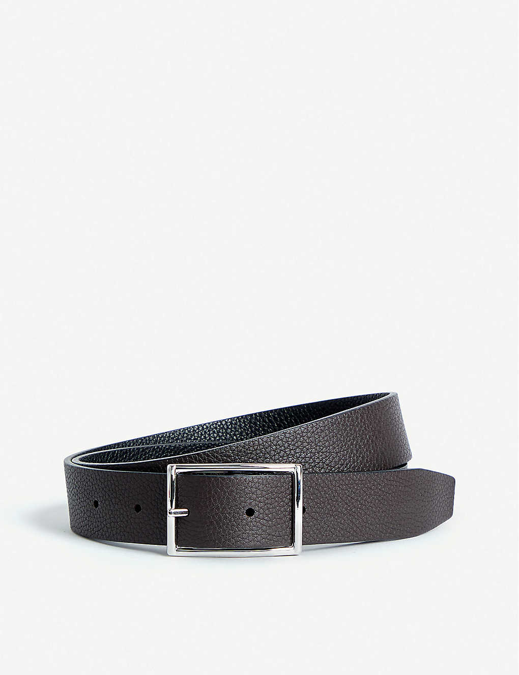 ANDERSONS: Grained leather reversible belt