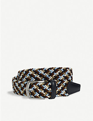 ANDERSONS: Multi-woven elasticated belt