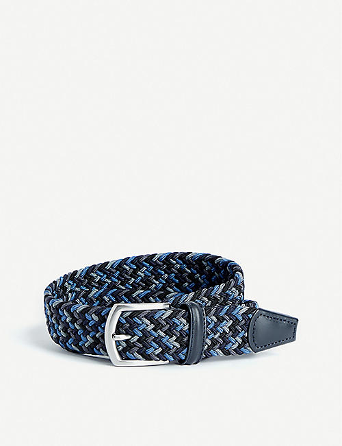 ANDERSONS: Cord and leather belt