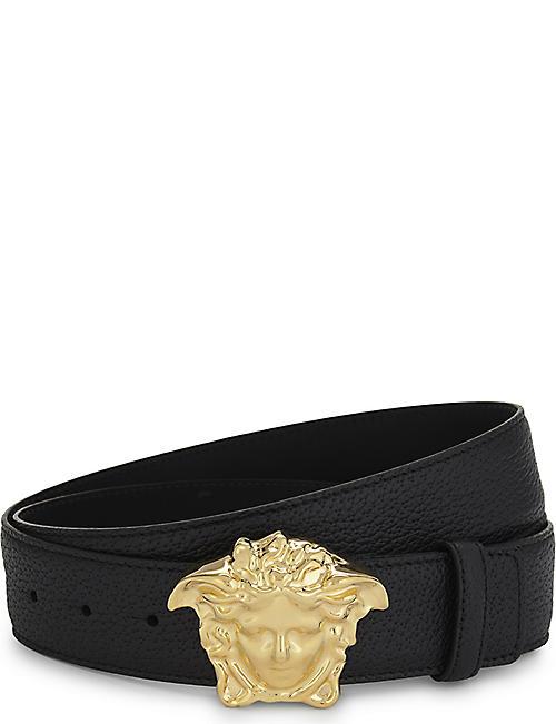 03b77cc0e88 VERSACE - Medusa buckle leather belt