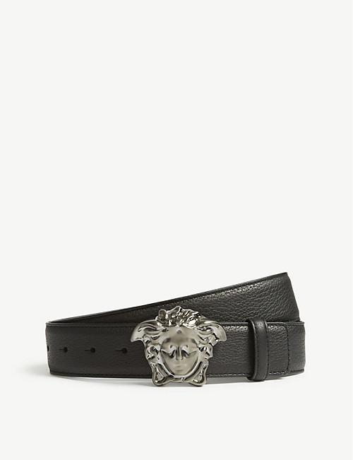 6f65333900 VERSACE - Medusa buckle leather belt | Selfridges.com