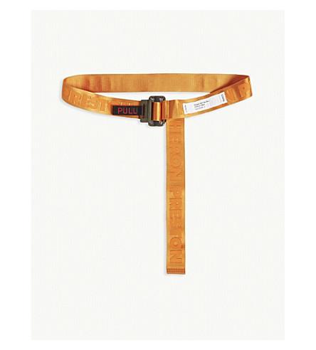 Heron Preston Logo Jacquard Webbing Belt In Orange