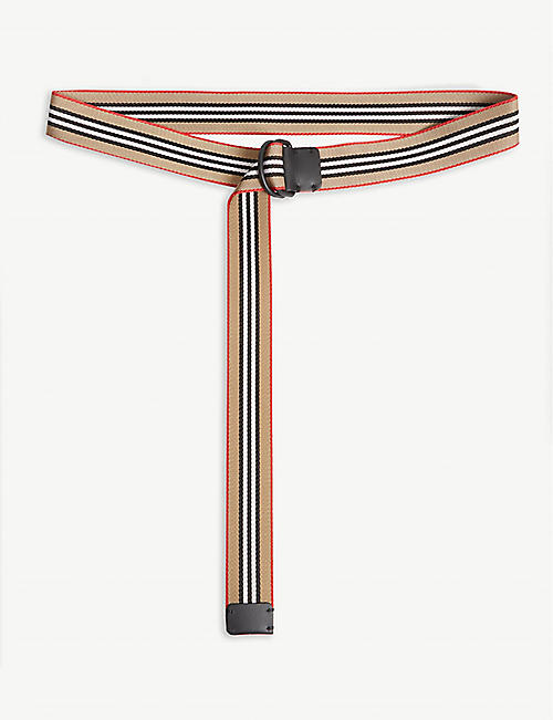 BURBERRY Web tape belt